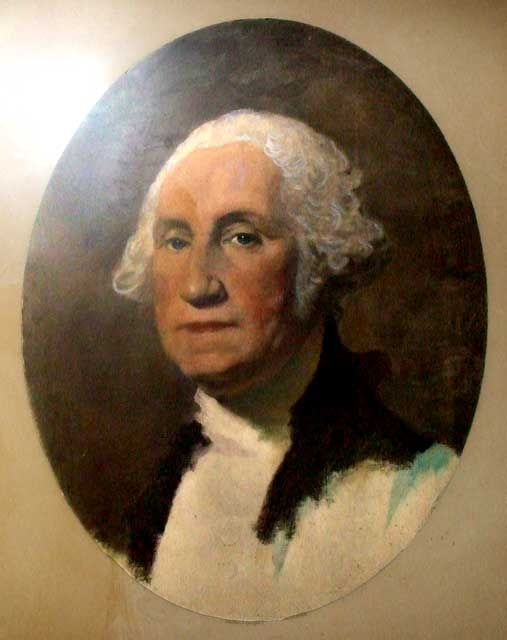 A W Elson colouered photograph of George Washington