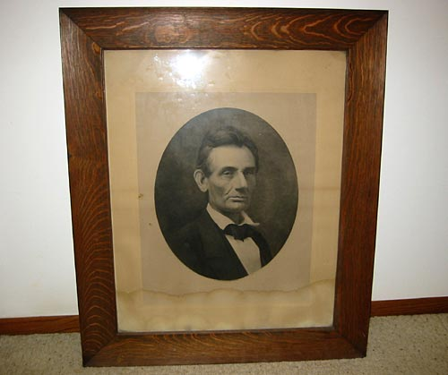 Carbon Print by A W Elson of Boston  -  Abraham Lincoln