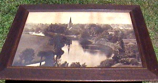 A W Elson Photograph  -  river and church  -  Where is it?