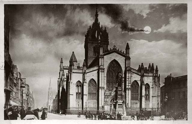 St Giles Cathedral  -  post card  -  Alex G Anderson