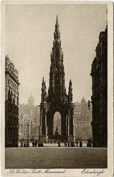Post Card - The Scott Monument, Princes Street - by James Patrick