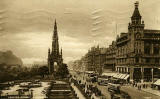 Postcard by A R Edwards & Son  -  Looking to the west along Princes Street from the North British Hotel