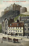 Hartmann Real Glossy Series postcard  -   Edinburgh Castle from the Grassmarket