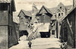 A Hartmann Postcard  -  White Horse Close near the foot of the Royal Mile