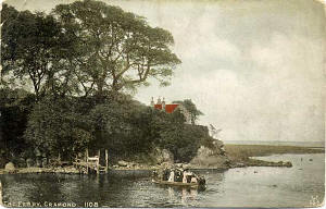 Postcard by Alex A Inglis  -  Cramond Ferry