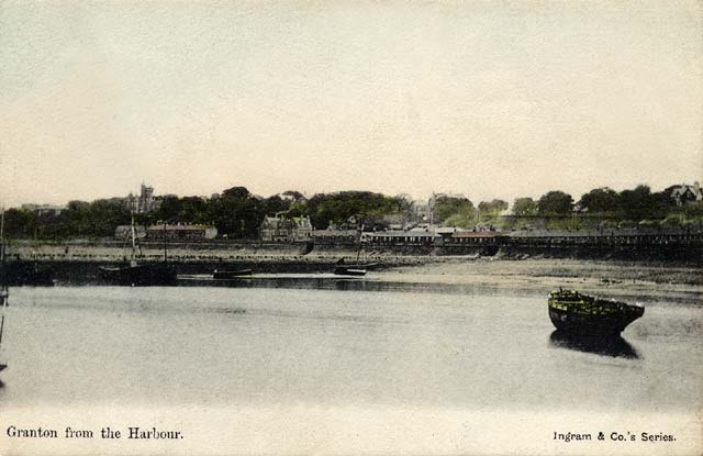 View of Wardie and Granton from Granton Harbour  -  Post card, c.1904