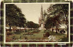 J M Postcard  -  Caledonia Series  -  The Scott Monument and Princes Street Gardens