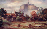 Edinburgh Castle from Greyfriars  -  A postcard by W & A K Johnston