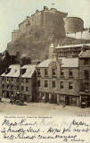 Postcard published by John R Russel of Edinburgh (JRRE)  -  Edinburgh astle from the Grassmarket