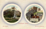 Postcard published by John R Russel of Edinburgh (JRRE)  -  Two views of Edinburgh Castle