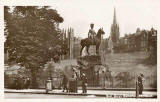 Postcard published by John R Russel of Edinburgh (JRRE)  -  Royal Greys'  Memorial in West Princes Street Gardens