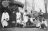 Postcard by John A McCulloch, Edinburgh  -  Musicians in the Senegalese Village at the Scottish National Exhibition, 1908