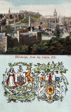 Postcard published by John Menzies & Co.  -  No 1295  -  Edinburgh from Calton HIll