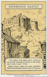 Postcard published by the Order of the Sons of Temperance Society  -  Edinburgh Castle