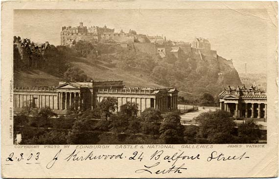 Post Card  -  The Scott Monument, Princes Street  -  James Patrick