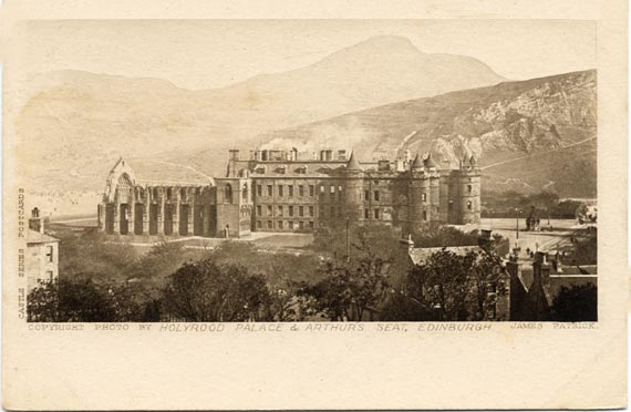 Holyrood Palace  -  post card  -  Photographer: John Patrick
