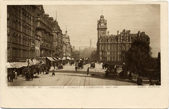 Post Card - Princes Street, looking to the East - by James Patrick