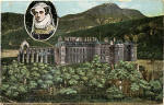 Postcard  -  Charles L Reis  -  Holyrood Palace and Arthur's Seat