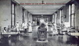 A postcard published by The Scientific Press  -  The Charteris Ward, Royal Hospital for Sick Children, Edinburgh
