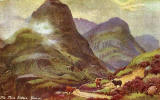 Raphael Tuck's 'Oilette' postcard  - Glencoe, The Three Sisters