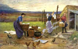 Raphael Tuck Postcard  -   'Oilette', Scottish Life and Character series  -  Washing Day in the Highlands
