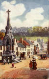 Raphael Tuck 'Oilette' postcard  -  Statue to the 6th Duke of Athol, Dunkeld, Scotland