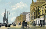 Postcard published by Shurey's Publications  -  Princes Street Looking West from Waverley