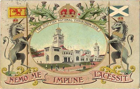 A Valetine Postcard of the Palace of Industries at the Scottish National Exhibition, Edinburgh, 1908