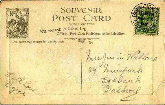 Scottish National Exhibition - Edinburgh 1908 - Valentine postcards