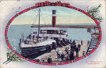 Postcard by Valentine  -  The ferry SS William Muir at Burntisland, following its refurbishment