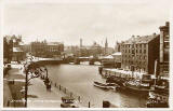 Valentine Postcard  - Shore and Inner Harbour, Leith: 1933
