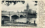 Musselburgh  -  The New Bridge and United Free Church  -  A Valentine Postcard  -  Photographed around 1903