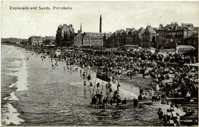Post Card Views  -  Portobello Beach  -  Valentine