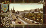 Valentine Postcard  -  View to the east along Princes Street, from an upper floor on Princes Street, close to its junction with Frederick Street