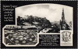 Postcard by Valentine  -  Princes Street and the Floral Clock in West Princes Street Gardens