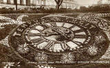 Postcard by Valentine -  Floral Clock in Princes Street Gardens  -  1928