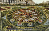 Postcard by Valentine -  Floral Clock in Princes Street Gardens  -  possibly 1910