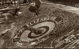 Postcard by Valentine  -  Floral Clock in Princes Street Gardens  -  1953