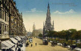 Valentine postcard  -  Looking to the east along Princes Street from the junction with Hanover street