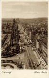 Valentine Postcard  -  View to the west along Princes Street from the North British Hotel towards the Scott Monument