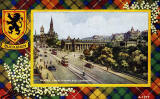 Valentine Postcard  -  Tartan Border  -  Buchanan  -  Princes Street Looking East