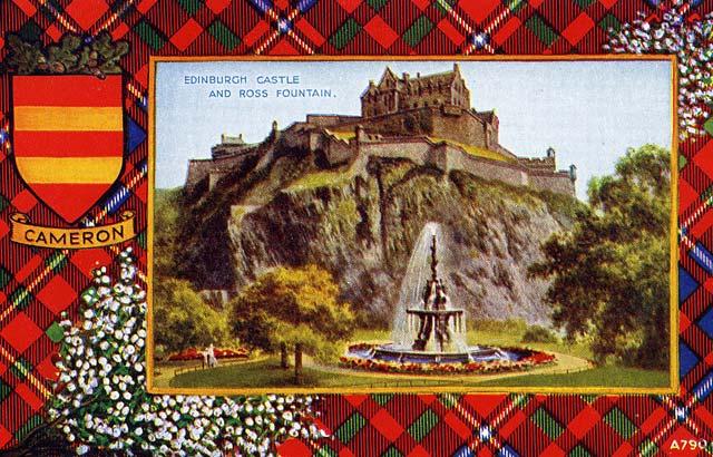 Valentine Postcard Tartan Border Cameron Edinburgh