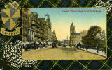 Valentine Postcard  -  Tartan Border  -  Campbell  -  Princes Street, Looking East
