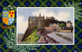 Valentine Postcard  -  Tartan Border  -  Gordon  -  Changing the Guard, Edinburgh Castle