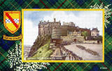 Valentine Postcard  -  Tartan Border  -  Hunting Stewart  -  Changing the Guard, Edinburgh Castle