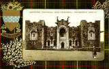 Valentine Postcard  -  Tartan Border  -  Hunting Stewart  -  Scottish National War Memorial, Edinburgh castle