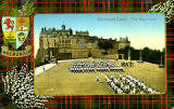 Valentine Postcard  -  Tartan Border  -  MacDonald  -  Edinburgh Castle and Esplanade