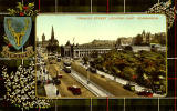 Valentine Postcard  -  Tartan Border  -  MacKenzie  -  Princes Street, Looking East