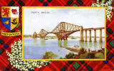 Valentine Postcard  -  Tartan Border  - MacIntosh  -  Forth Bridge