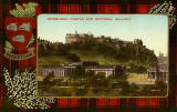 Valentine Postcard  -  Tartan Border  -  Robertson  -  Edinburgh Castle and National Gallery
